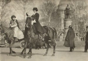 Jane Burleson, grand marshall of the 1913 Washington Suffrage Parade