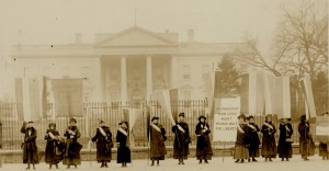 The Silent Sentinels outside the White House, 1917