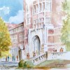 Ayres Hall, University of Tennessee, watercolor by Jim Stovall, 5/2016