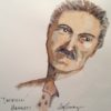 Dashiell Hammett (watercolor, Jim Stovall, 2017)