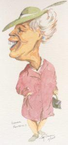Eleanor Roosevelt caricature
