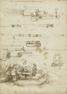 Leonardo's designs for gun barrels and mortars