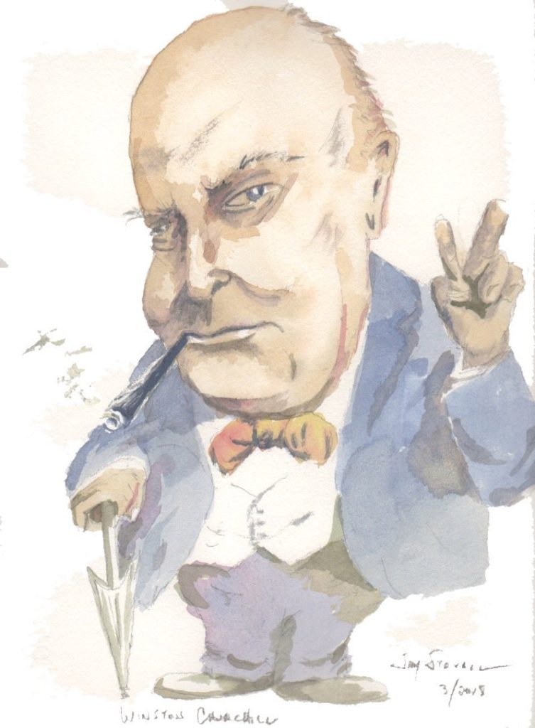 Winston Churchill caricature