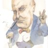 Winston Churchill caricature