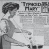 A newspaper depiction of Typhoid Mary (National Institutes of Health)