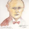 Winston Churchill during World War I; watercolor, Jim Stovall